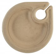 Compostable Party Plates with Cup Holder 7 Inch 1000/ CS