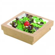 Kraft Brown Box With Window Lid - Base 7.4 X 7.4 X 2 - 200/CS
