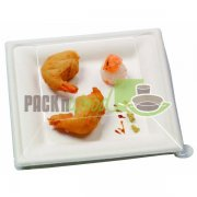 LID FOR Sugar Cane Square Plate - 7.8 X 7.8 - 250/CS