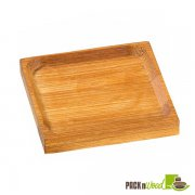 PODA Bamboo Mini Square Dish - 2.4 X 2.4 - 144/CS