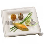 LID FOR Sugar Cane Square Plate - 6.3 X 6.3 - 250/CS