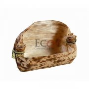 Mito Oval Bamboo Leaf Basket - 2.7 X .79 - 500/CS