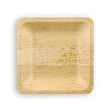 Disposable Bamboo Plates 8 inch Square 96/CS